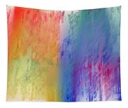 Deep Rich Sherbet Abstract Tapestry