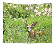 Deer In Magee Marsh Tapestry