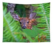 Fawn In The Ferns Tapestry