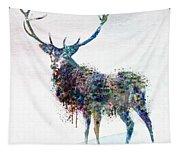 Deer In Watercolor Tapestry