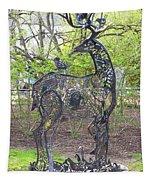 Deer Sculpture Tapestry