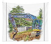 Deere For Hire2 - Excavator - Digger Tapestry