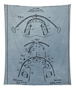 Dental Braces Patent Design Tapestry
