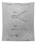 Dental Pliers Patent Drawing Tapestry