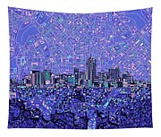 Denver Skyline Abstract 4 Tapestry