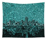 Denver Skyline Abstract 5 Tapestry