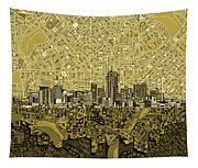 Denver Skyline Abstract 8 Tapestry