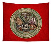 Department Of The U. S. Army Bronze Seal Tapestry