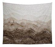 Desert Mountain Mist Original Painting Tapestry