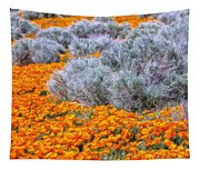 Desert Poppies And Sage Tapestry