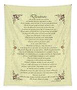 Desiderata Gold Bond Scrolled Tapestry