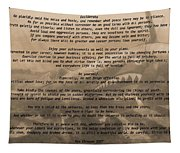 Desiderata Military Tapestry