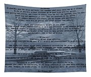 Desiderata Winter Scene Tapestry