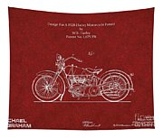 Original Design For A 1928 Harley Motorcycle Tapestry