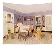 Design For The Interior Of A Bedroom Tapestry