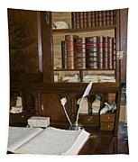 Desk With Quill Pens Tapestry