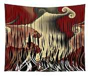 Destruction Of The Earth Abstract Tapestry