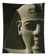 Detail Of Pharaoh Head At Entrance Tapestry