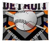 Detroit Baseball  Tapestry