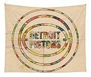 Detroit Pistons Vintage Logo Tapestry