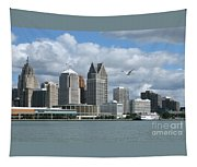Detroit Riverfront Tapestry