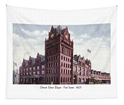 Detroit - Union Depot - Fort Street - 1907 Tapestry