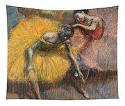Deux Danseuses Jaunes Et Roses Tapestry