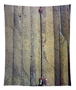 Devil's Tower Climbers Tapestry