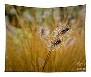 Dew On Ornamental Grass No. 4 Tapestry