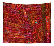 Diagonal Tiles In Reds Tapestry