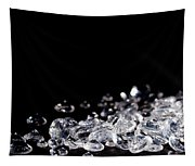 Diamonds On Black Background Tapestry