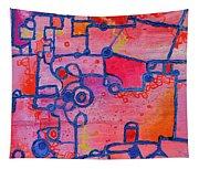 Dichotomy  Original Abstract Oil Painting By Regina Valluzzi Tapestry