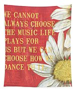 Dictionary Floral 1 Tapestry by Debbie DeWitt