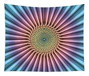 Digital Mandala Flower Tapestry