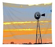 Digital Windmill-horizontal Tapestry
