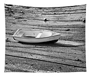 Dinghy At Low Tide Tapestry