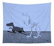 Dino Cyan Tapestry