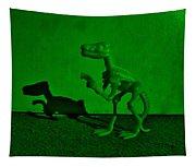 Dino Dark Green Tapestry