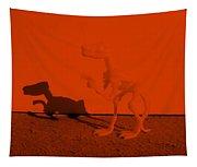 Dino Orange Tapestry