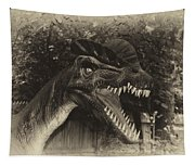 Dino's At The Zoo Come Here Cameraman In Heirloom Finish Tapestry