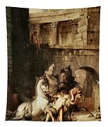 Diomedes Devoured By His Horses Tapestry