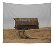 Dirt Road To An Old Leaning Barn Tapestry