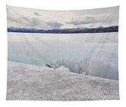 Disintegrating Candelized Melting Ice On Lake Shore Tapestry
