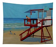 Distracted Lifeguard Tapestry