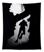 Diver Silhouette  Tapestry