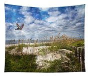 Divine Beach Day  Tapestry