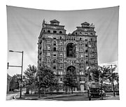 Divine Lorraine In Pain - Black And White Tapestry