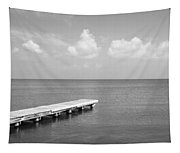 Dock, Mobile Bay Alabama, Usa Tapestry