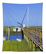 Docked On The Bay Tapestry