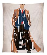 Doctor Who Inspired Tenth Doctor's Typographic Artwork Tapestry